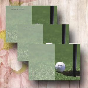 Golf Ball Funerl Flower Card