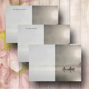 Anglers in the Mist Funerl Flower Cards