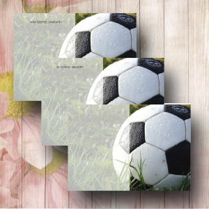 Football Funeral Flower Message Card