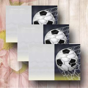 Goal Funeral Flower Message Card