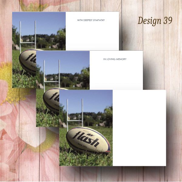 Rugby Funeral Flower Message Card