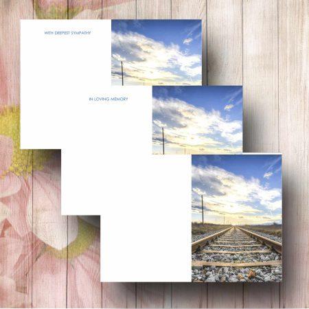 Railway Track Funeral Flower Card