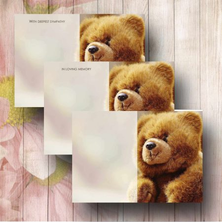 Teddy Florist Funeral Card