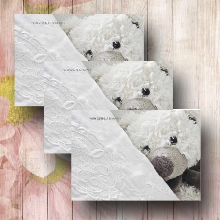 Pillow Talk Teddy Florist Funeral Card