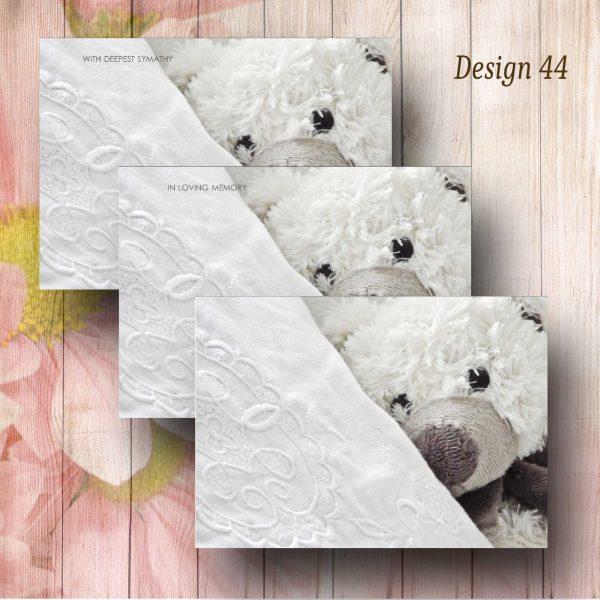 Pillow Talk Teddy Florist Funeral Card