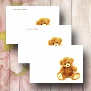 Cute Teddy Florist Funeral Card