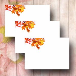 Delicate Leaves Florist Card