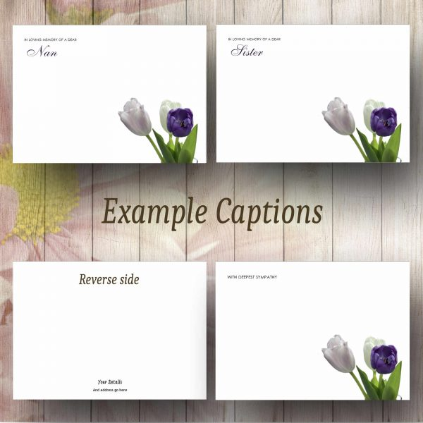 Corner Tulips Text Example