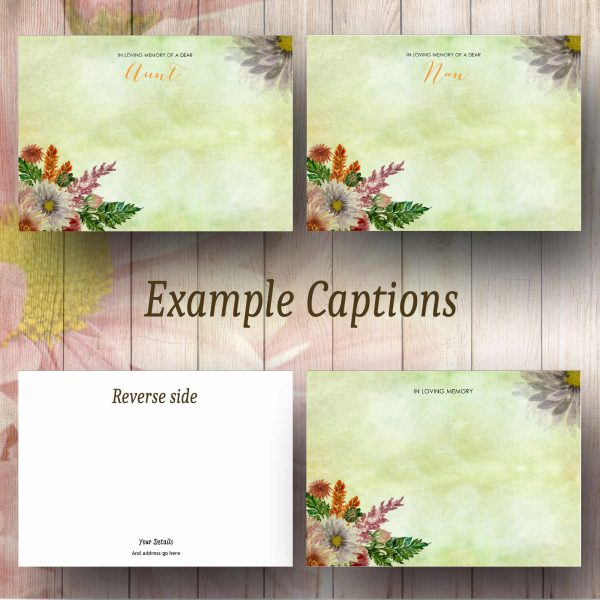 Floral Watercolour Text Example