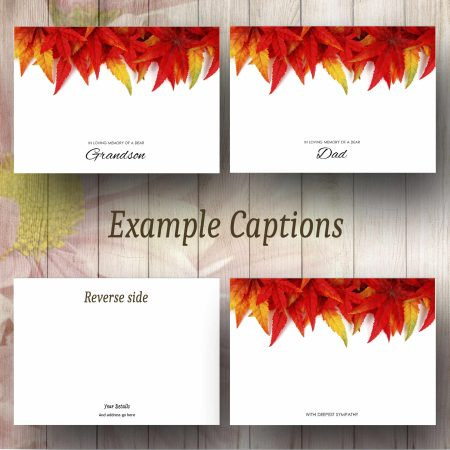 Red Leaves Text Example