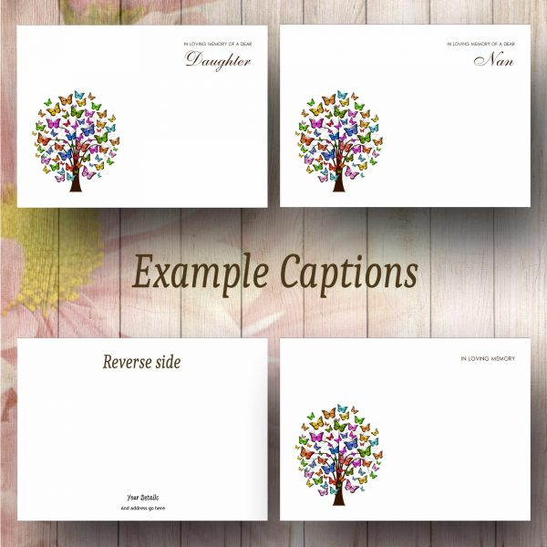 Butterfly Tree Text Example Florist Message Card