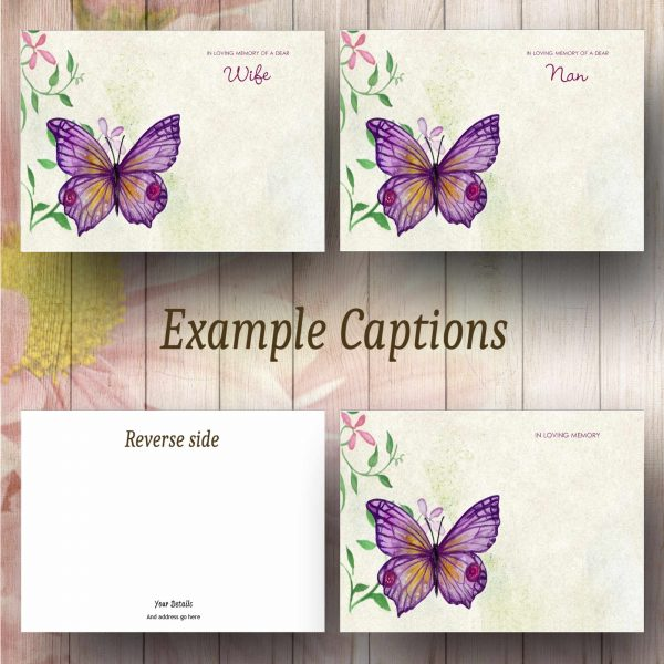 Butterfly Watercolour Text Example