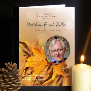 Funeral Order of Service Autmn Leaves