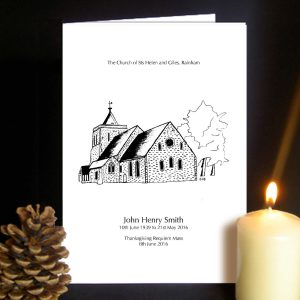 Funeral Order of Service Church Design