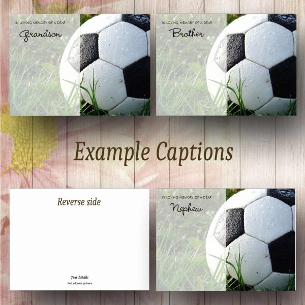 Football Flower Message Card Text Example