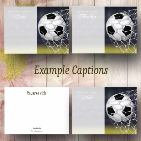 Goal Text Example Funeral Flower Message Card