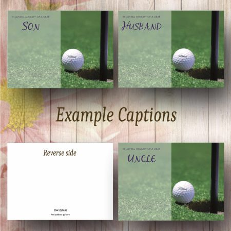 Golf Ball Text Examples