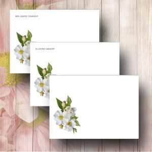Wilde Rose Funeral Florist Card