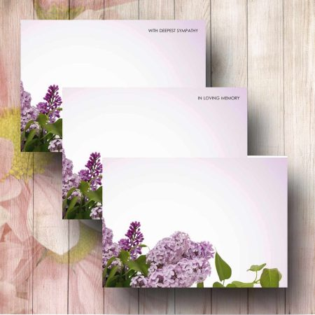Lilac Tree Florist Funeral Message Card