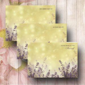 Lavender Water Colour Florsit Message Card