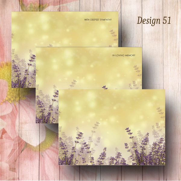 Lavender Water Colour Florsit Message Card