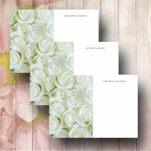 White Roses funerl Florist Card