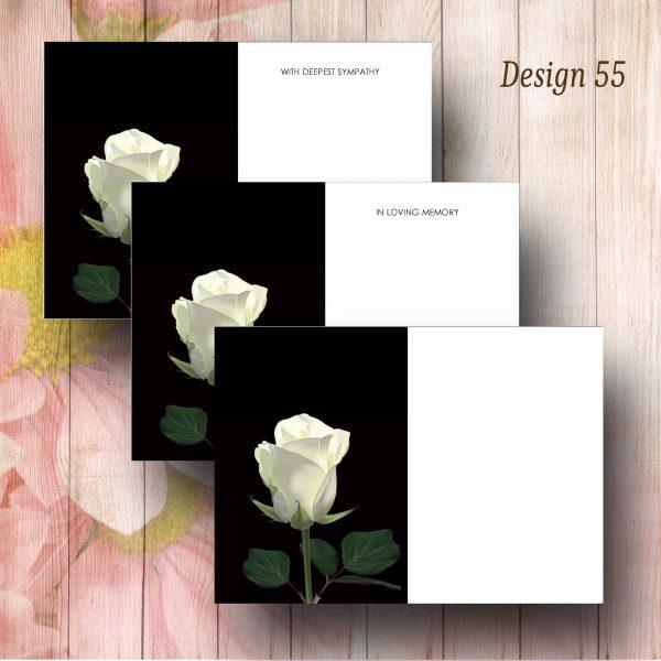 Single White Rose Florist Message Card