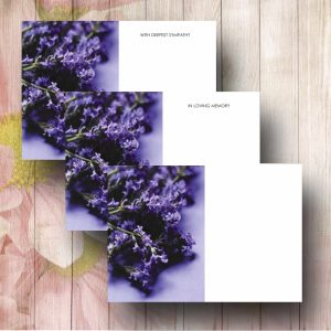 Lavender Flowers Funeral Florist Message Cards