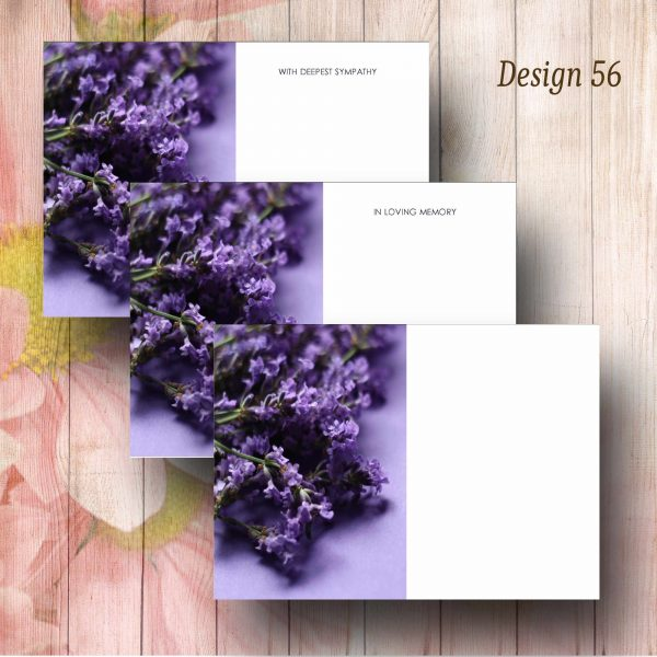 Lavender Flowers Funeral Florist Message Cards