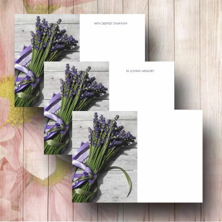 Lavender Bunch Florist Funeral Message Card