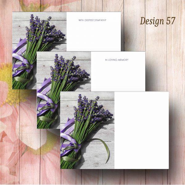Lavender Bunch Florist Funeral Message Card