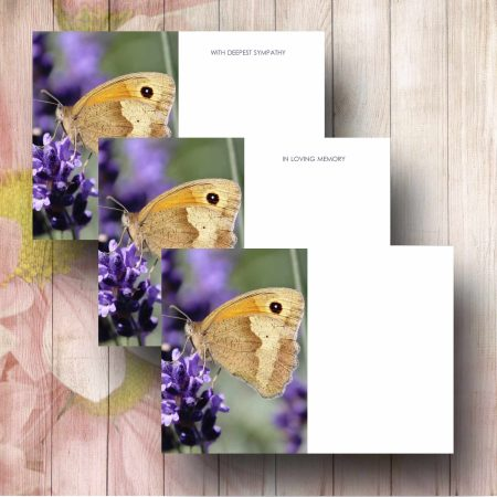 Delicate Butterfly Funeral Florist Message Card
