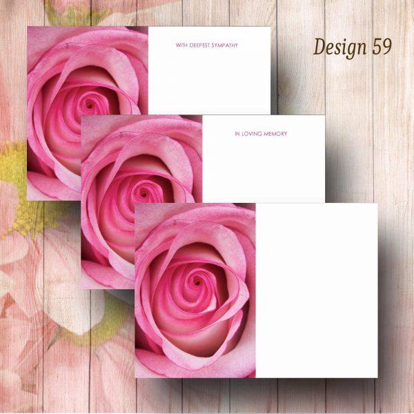 Pink Rose Funeral Florsit Message Card