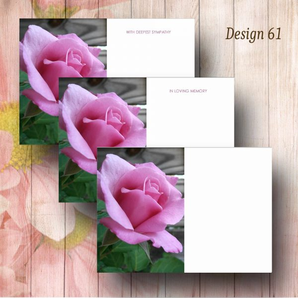 Lilac Rose Funeral Message Card