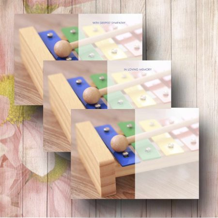 Toy Glockenspiel Funeral Message Card