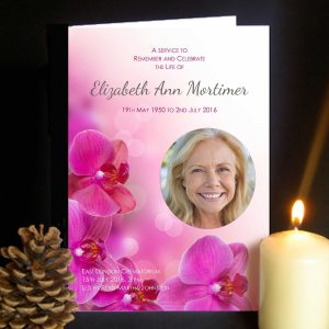 Funeral Order of Service Orchid Design