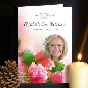 Funeral Order of Service Roses Design