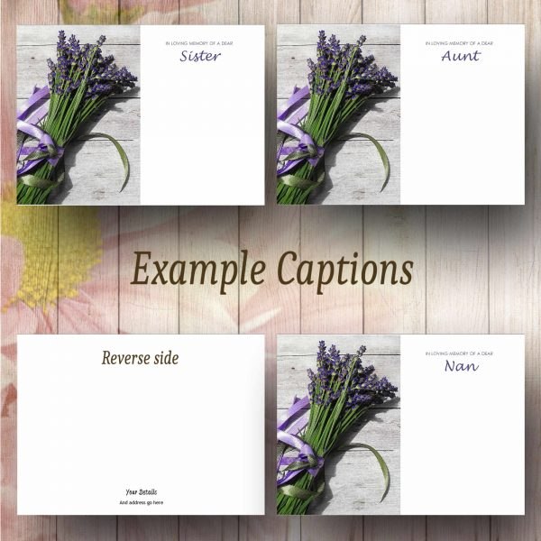 Lavender Bunch Text Example