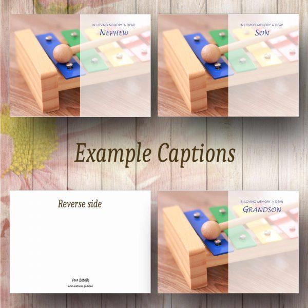 Toy Glockenspiel Text Example