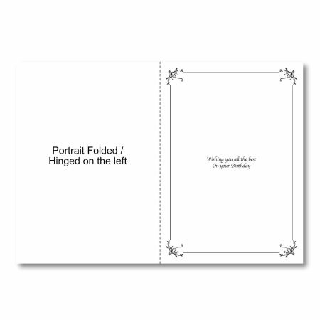 How a portrait rectangular insert is folded