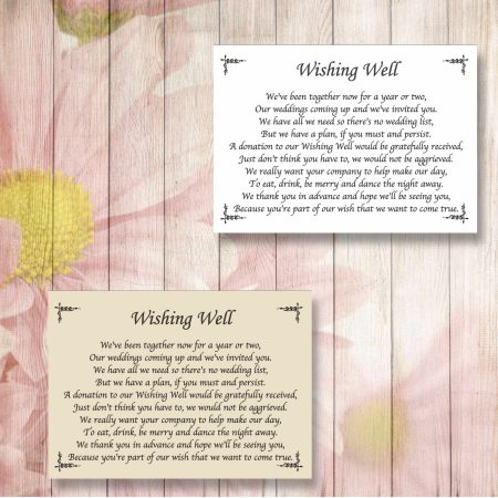 Border Wedding Gift Poem Cards