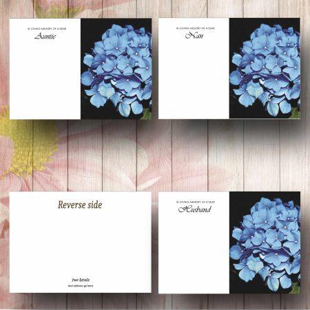 Blue Hydrangea Florist Card Text Examples
