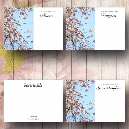 Pink Blossom Tree Flower Message Card Text Examples