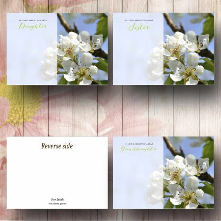 White Blossom Flower Message Card Text Examples