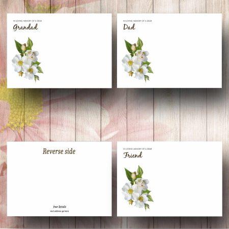 Wild Rose Florist Card Text Examples