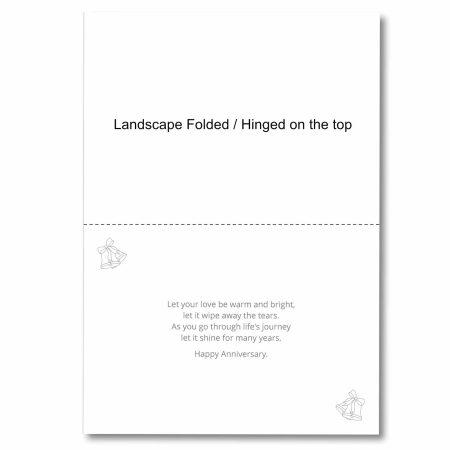 Anniversary Card Inserts Landscape Fold