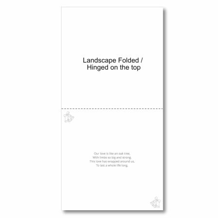 Anniversary Card Inserts Square Landscape Fold