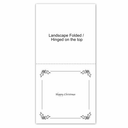 Christmas Card Insert example square folded landscape