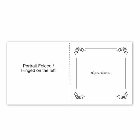 Christmas Card Insert example square folded portrait