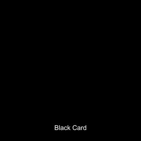 Black coloured card